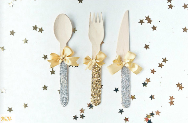 dashing magazine glitter cutlery