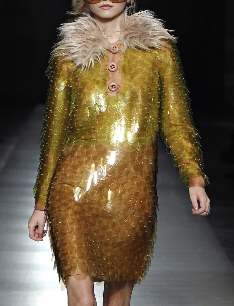 Prada plastic paillette scale dress FW2011 1