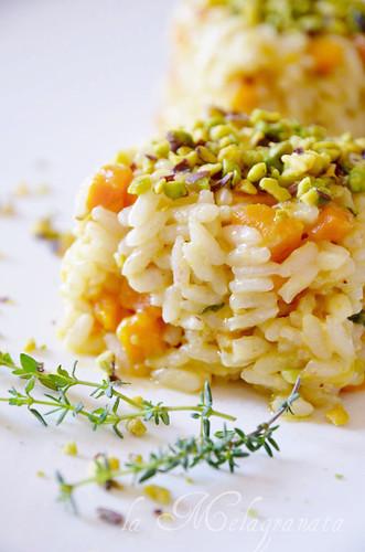 sformatini riso zucca pistacchi
