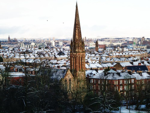 Glasgow in Winter viewed from Queens Park