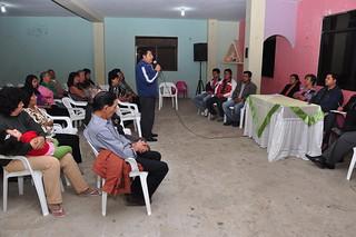 Reunión de trabajo con la comunidad de la Cdla. 12 de Octubre