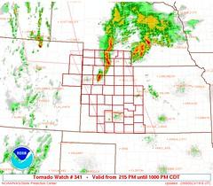 May 23 - SPC Tornado Watch - Kansas