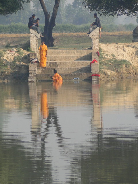 nepal public bathing
