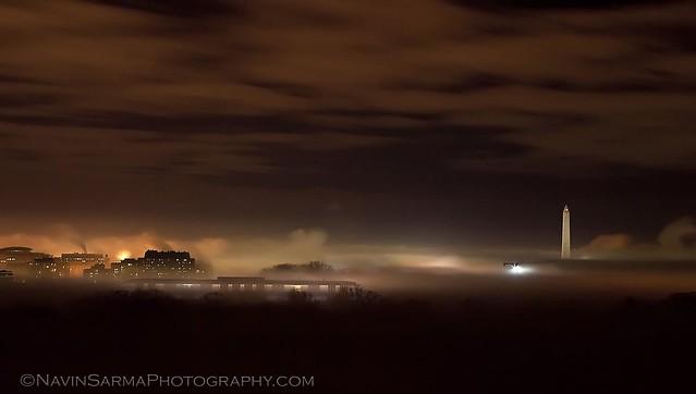 Fog over Washington, D.C.
