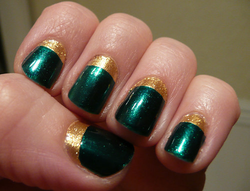 green gold nails 7