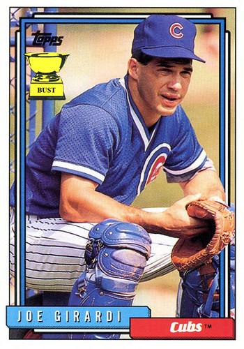 Baseball Card Bust Joe Girardi 1992 Topps