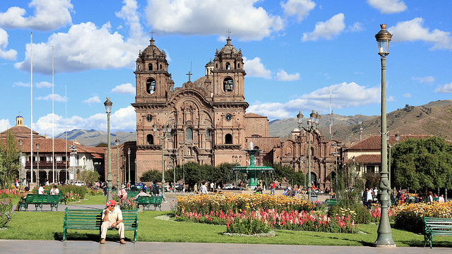 Plaza de Armas and Iglesia La Compañía de Jesús