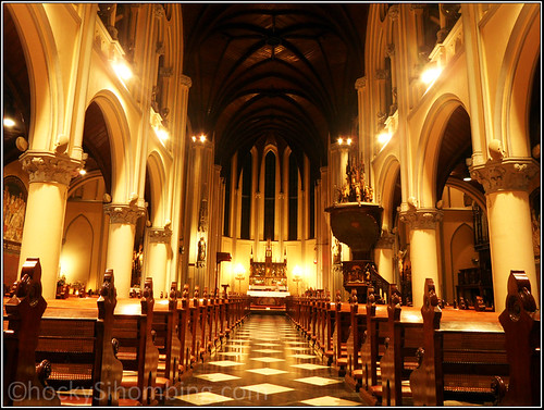 The Altar - Jakarta Cathedral at night
