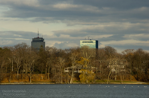 Boston from Jamaica Pond