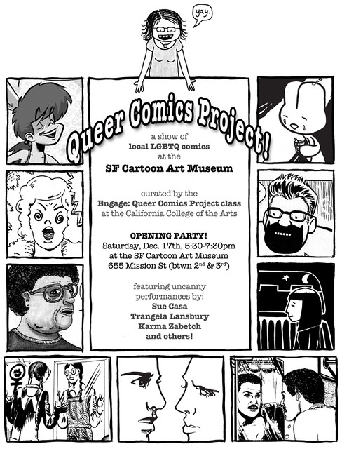 Queer Comics Project flyer