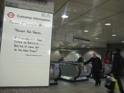 Thought of the Day Angel Tube - 12th December 2011