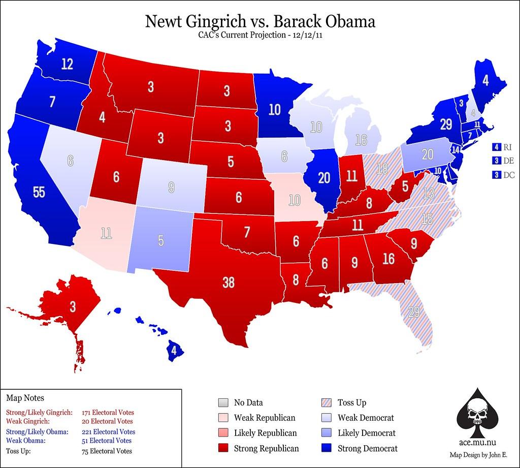 Newt Gingrich vs. Barack Obama