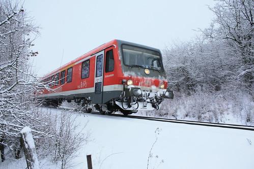 Bahn im Schnee