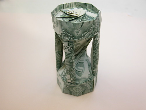 Dollar bill sand-glass aka Time is Money!