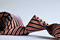 Orange Stripe Necktie