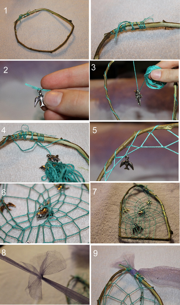 How to make a birdcage dreamcatcher