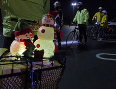 Christmas bike light ride