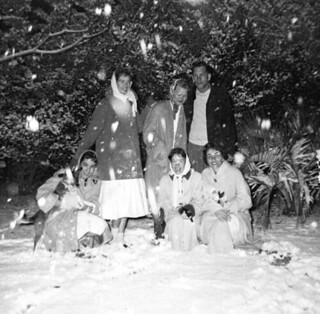 FSU students in the snow: Tallahassee, Florida