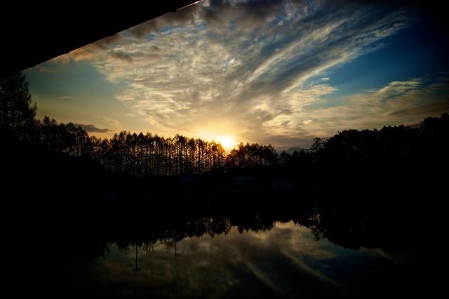 松原湖バイブルキャンプの夜明け