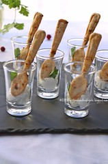 Cucchiai ai pomodori secchi e mousse di baccalà