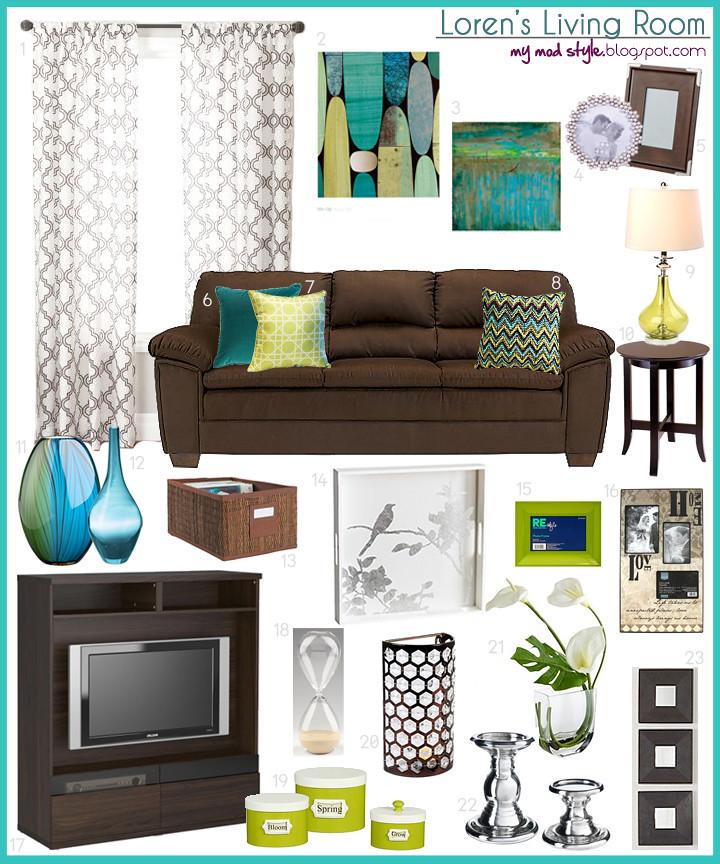 Loren's Living Room Turq Grn