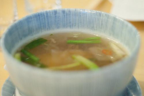Beef daikon soup at Danji