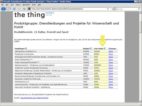 Webseite Virtueller Produktbereich 21 Screenshot