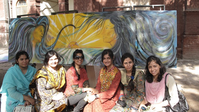 Punjab University MFA students
