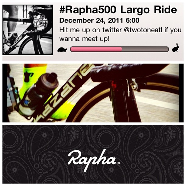 I'm logging some #rapha500 miles early tomorrow. Gimme a shout of you wanna meet up!