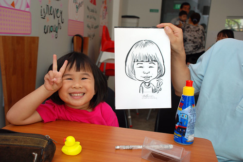 caricature live sketching for birthday party 2nd Oct 2011 - 10