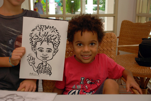 caricature live sketching for children birthday party 08 Oct 2011 - 2