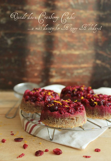 Upside down Cranberry Cakes