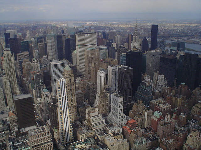 Photo de Midtown Manhattan, vu depuis le sommet de l'Empire State Building, New York, USA