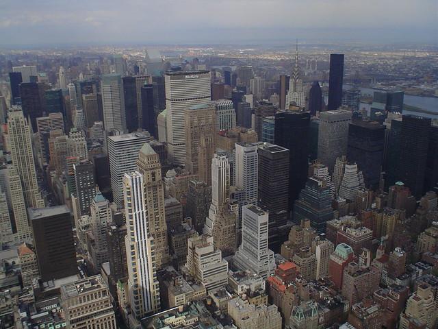 Foto vista de Manhattan desde lo alto del edificio Empire State en Nueva York EE.UU.