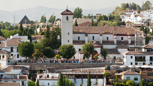 El mirador de San Nicol�s en Granada