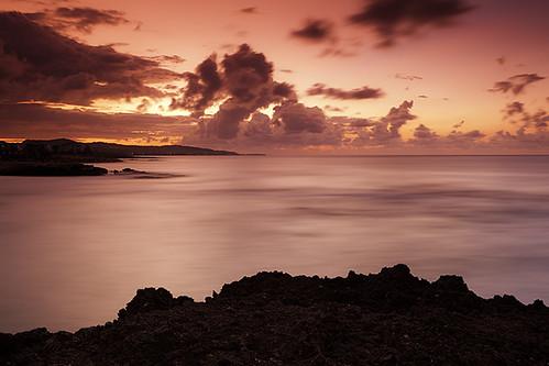 sunset vacation color beach beauty landscape jamaica lucea