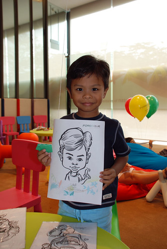 caricature live sketching for Foresque Residences Roadshow - Day 2 - 12
