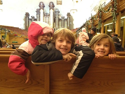 Kids at the tabernacle