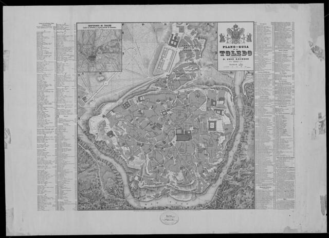 Plano - Guía de la ciudad de Toledo publicado por José Reinoso en 1882 (Escala 1:4000). Ayuntamiento de Toledo