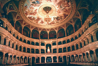 Image of Hungarian State Opera House near Budapest VI. kerület. opera hungary 2000 postcard budapest operahouse andrassyut andrassy