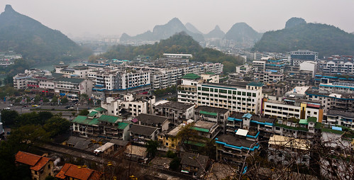 Guilin city from Solitary Beauty Peak