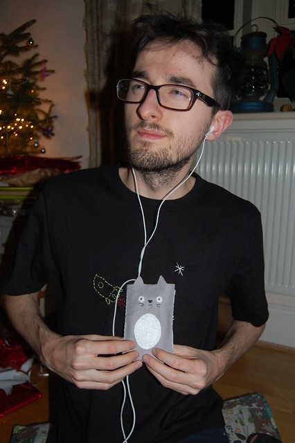 Tom with little totoro
