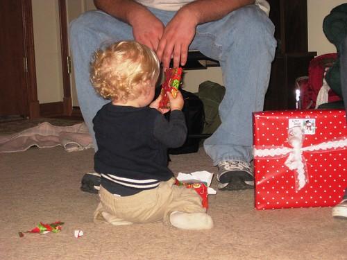 unwrapping Doug's present