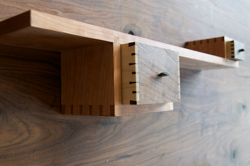 Shelf and drawers