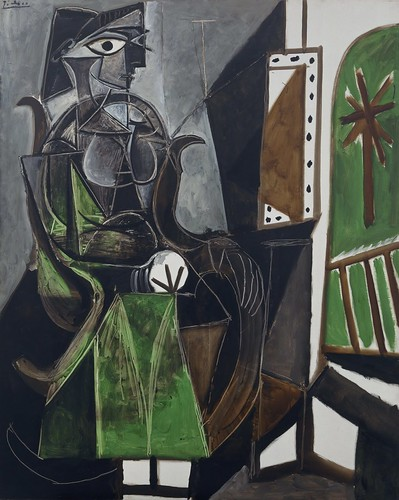 Pablo Picasso - Woman by a Window [1956] by Gandalf's Gallery