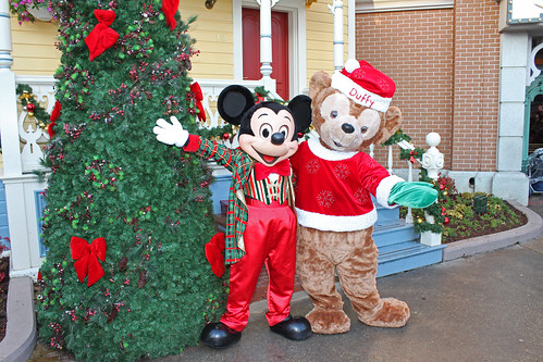 Mickey Mouse and Duffy the Disney Bear