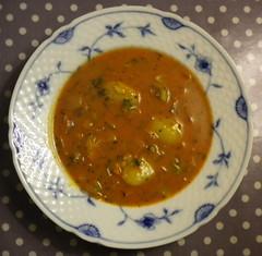 Royal Copenhagen with tomato soup