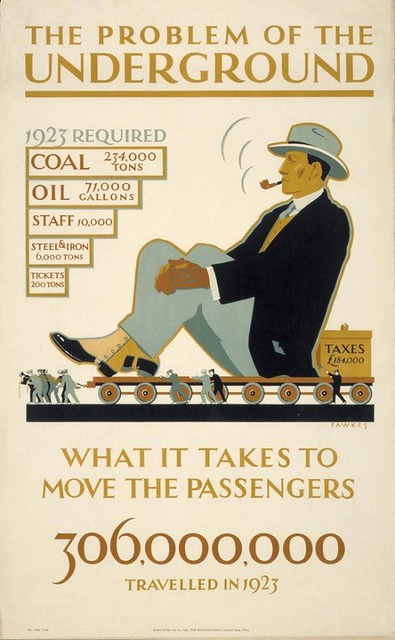 What it takes to move passengers 1923 - London Transport Museum Poster