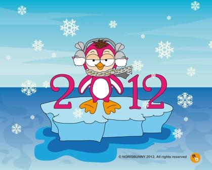 anno-nuovo-vita-nuova-bunny-pinguino by NorisBunny