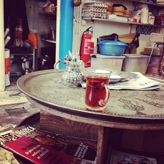 Tea, waiting for Turkish lunch